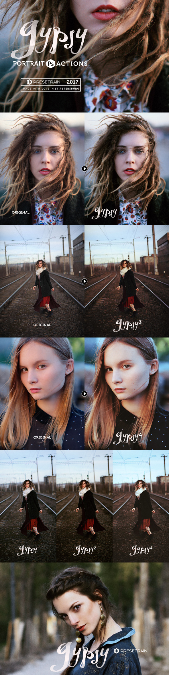 Gypsy Portrait Photoshop Actions - Photo Effects Actions