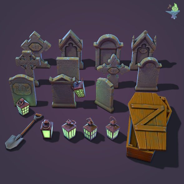 Graveyard Package - 3DOcean Item for Sale