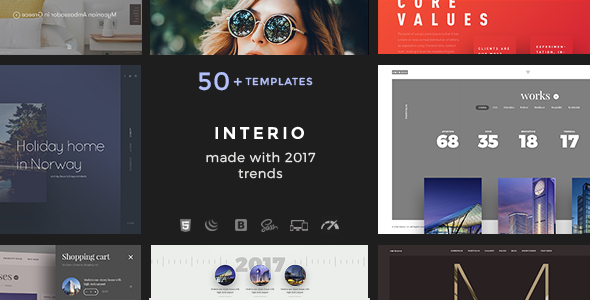 Interio – Agency Design Portfolio Template