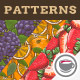 Fruits & Vegetables Vintage Seamless Patterns - GraphicRiver Item for Sale