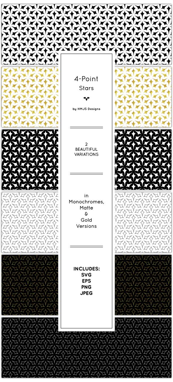 Galaxy Pattern Set - Textures / Fills / Patterns Illustrator