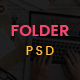 Folder -  Freelancer One Page Portfolio & Resume PSD Template - ThemeForest Item for Sale