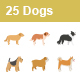 Dogs Color Vector Icons - GraphicRiver Item for Sale