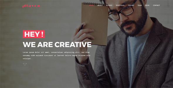 Alavon – Creative Portfolio HTML5 Digital Agency Template
