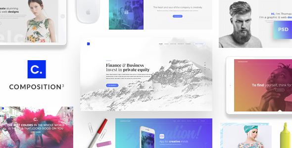 Composition No. 3 - Creative Multipurpose PSD Template - Creative PSD Templates