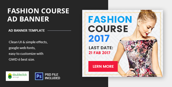 Fashion Course02 - HTML5 Animated Google Banner 02 - CodeCanyon Item for Sale