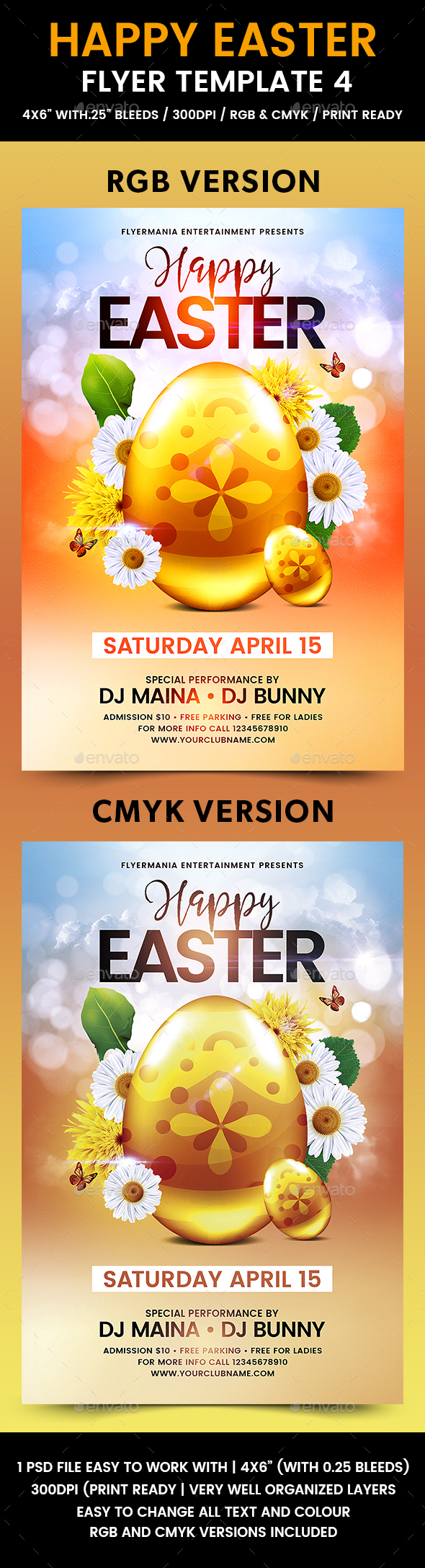 Happy Easter Flyer Template 4 - Holidays Events