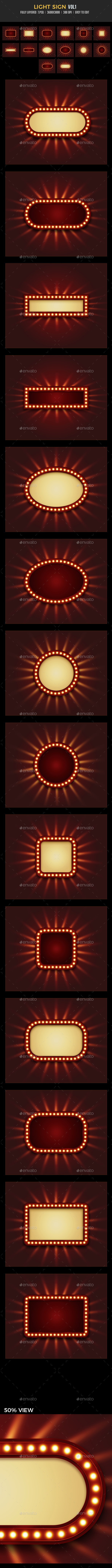 Light Sign vol1 - Backgrounds Graphics