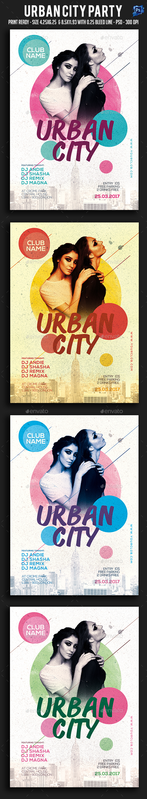 Urban City Party Flyer - Clubs & Parties Events