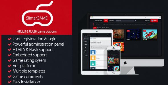 SlimarGame - HTML5, FLASH Game Platform - CodeCanyon Item for Sale