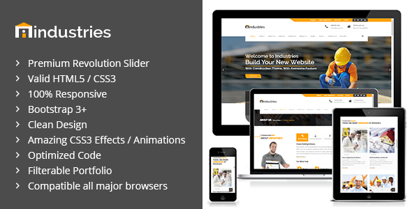Industries - Industrial & Construction Business HTML Template - Business Corporate
