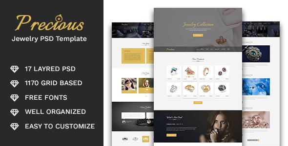 Precious - Jewelry Store PSD Template