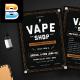 Vape Shop Flyer Menu - GraphicRiver Item for Sale