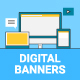 Digital Marketing Banners - GraphicRiver Item for Sale