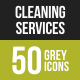 Cleaning Services Greyscale Icons - GraphicRiver Item for Sale