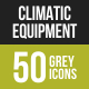 Climatic Equipment Greyscale Icons - GraphicRiver Item for Sale