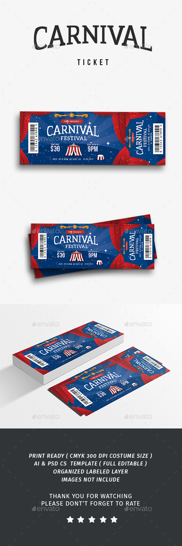 Carnival Event Ticket - Events Flyers