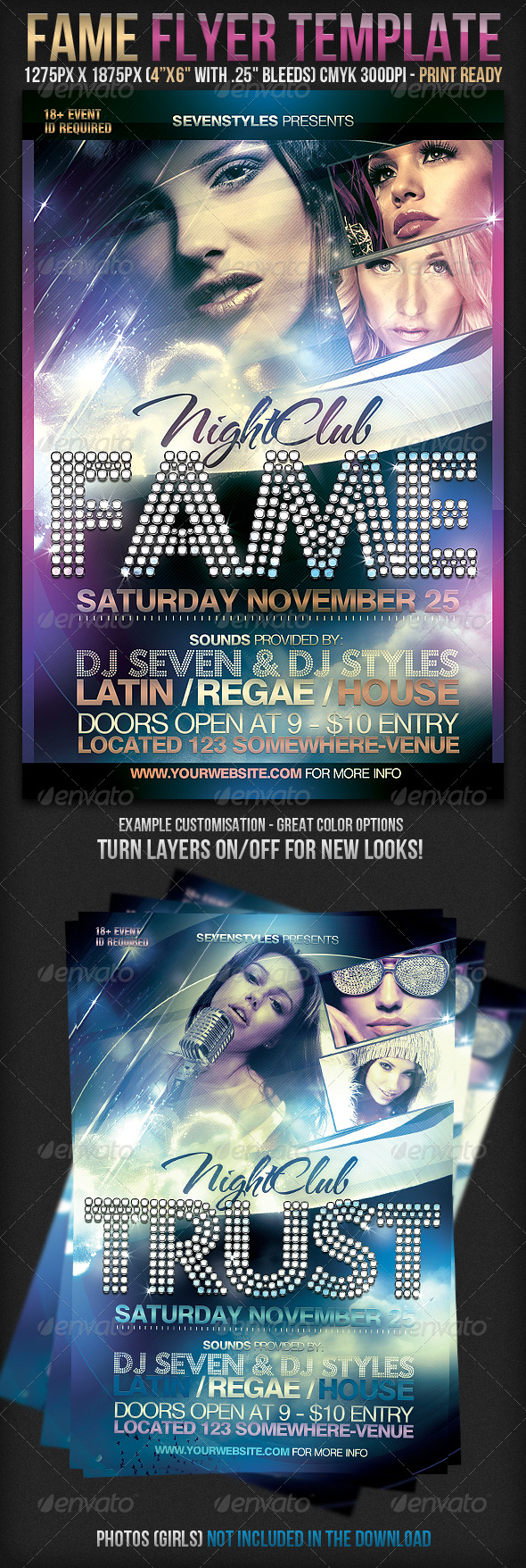 Fame Flyer Template - Clubs & Parties Events