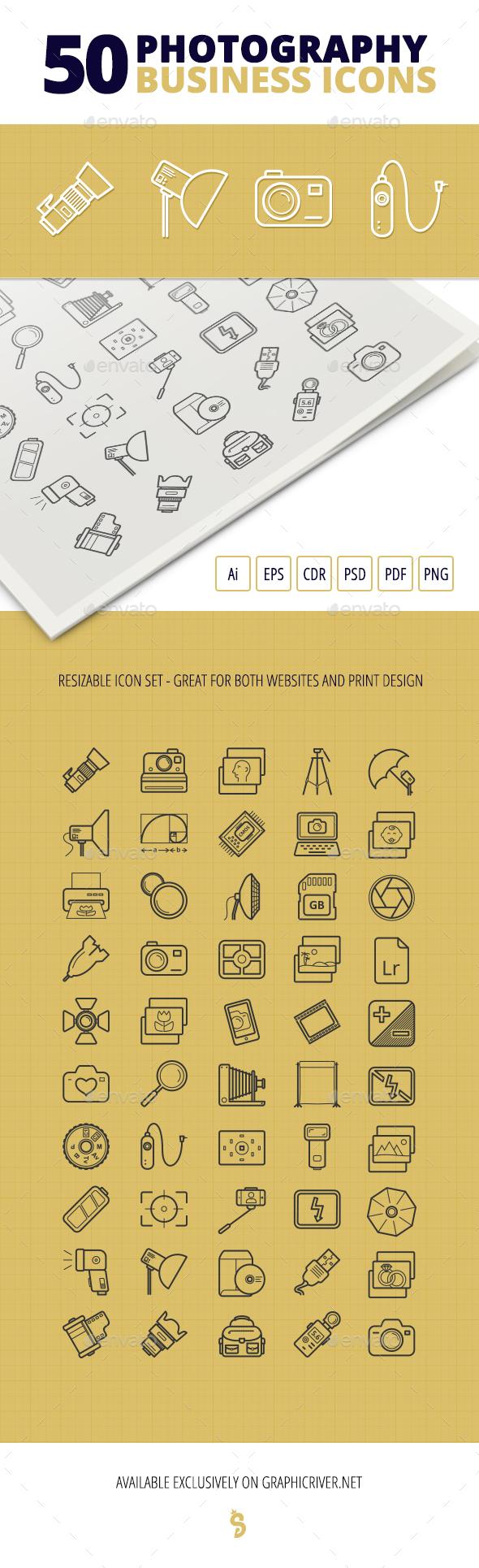 50 Photography Business Icons - Business Icons