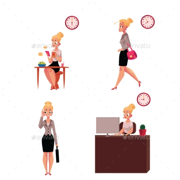 Young Businesswoman - People Characters