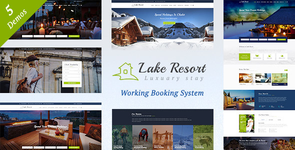 Lake Resort : Resort and Hotel WordPress Theme - Travel Retail