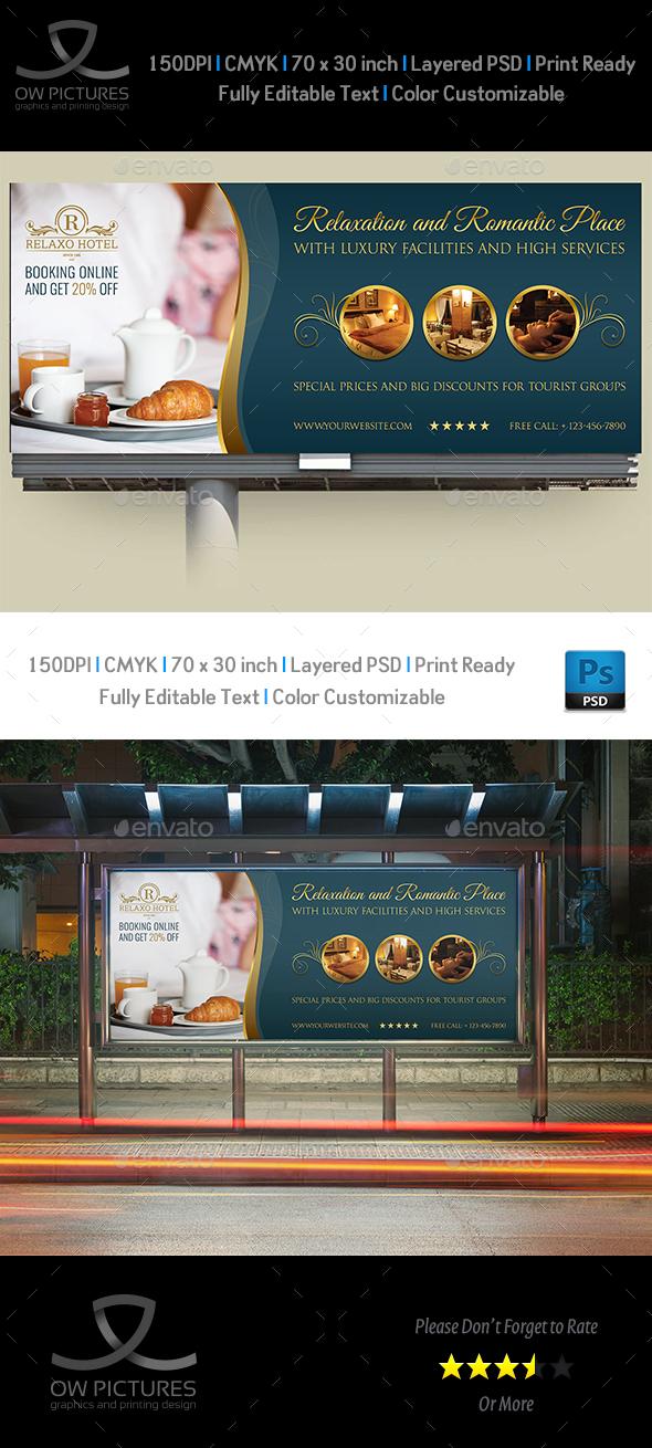 Hotel Billboard Template Vol.2 - Signage Print Templates