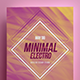 Minimal Electro Flyer - GraphicRiver Item for Sale