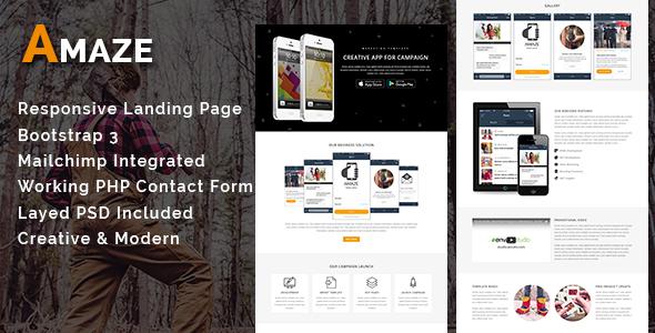 AMAZE – Multipurpose Responsive HTML Landing Page