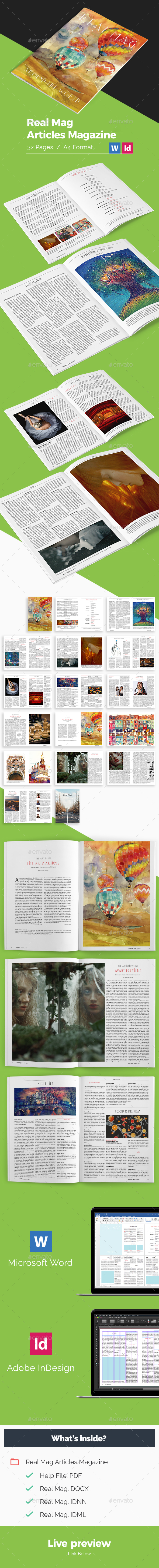 Articles Magazine - Magazines Print Templates