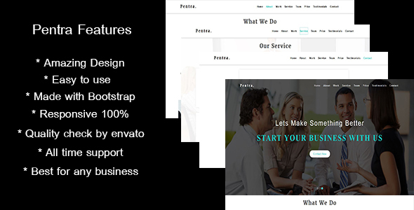 Exceptional Pentra-Multipurpose Corporate HTML5 Template