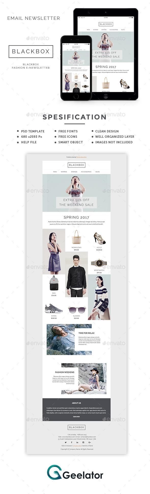 Blackbox - Fashion E-Newsletter - E-newsletters Web Elements