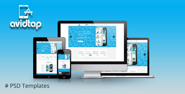Avidtap Mobile Apps PSD Template