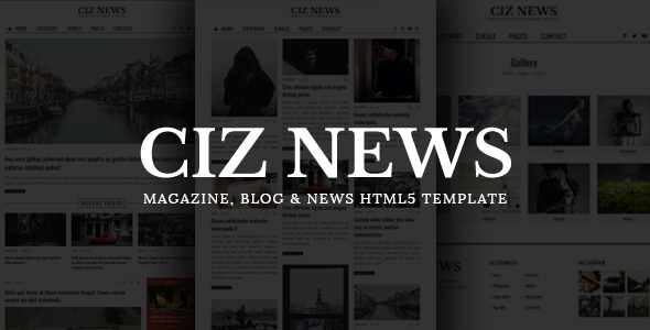 CIZ NEWS – Magazine, Blog & News HTML5 Template