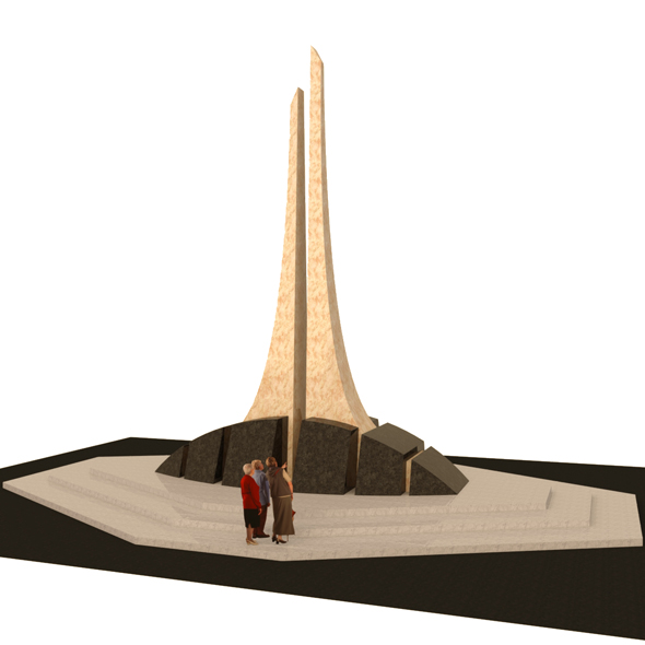 Monument of granite and marble - 3DOcean Item for Sale