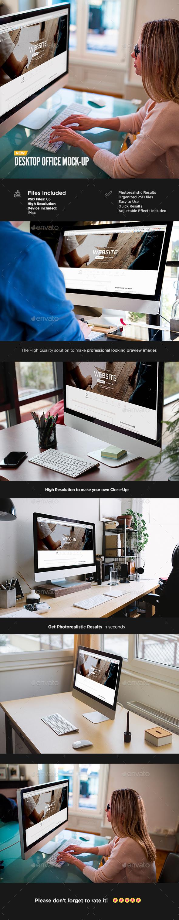 Desktop Display Mock-Up | Workspace Edition - Displays Product Mock-Ups