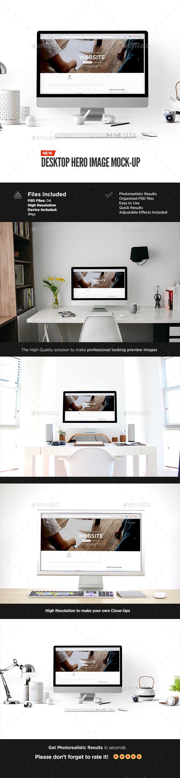 Desktop Display Mock-Up | Hero Image Edition - Displays Product Mock-Ups