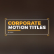 Corporate Motion Titles 1 - VideoHive Item for Sale