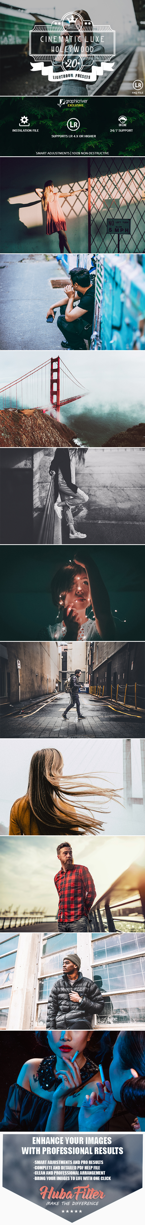 20 Cinematic Luxe Hollywood Lightroom Presets - Cinematic Lightroom Presets