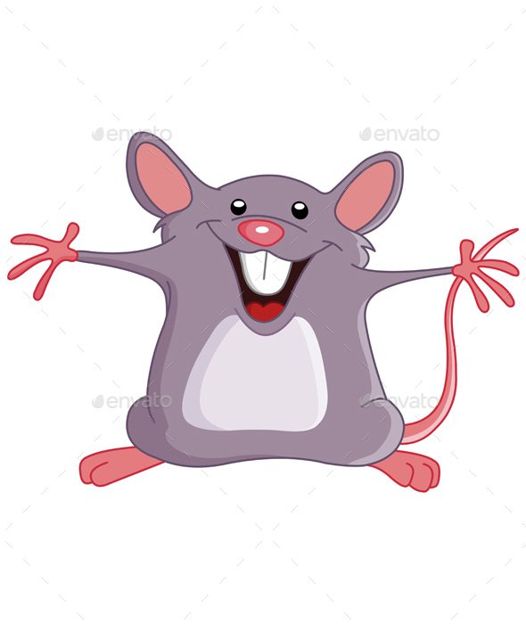 Happy Mouse - Animals Characters