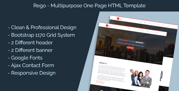 Rego- Multi Purpose Single Page HTML Template