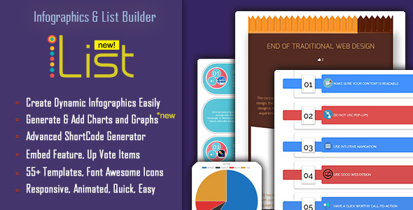 Infographics and List Maker - iList Pro - CodeCanyon Item for Sale