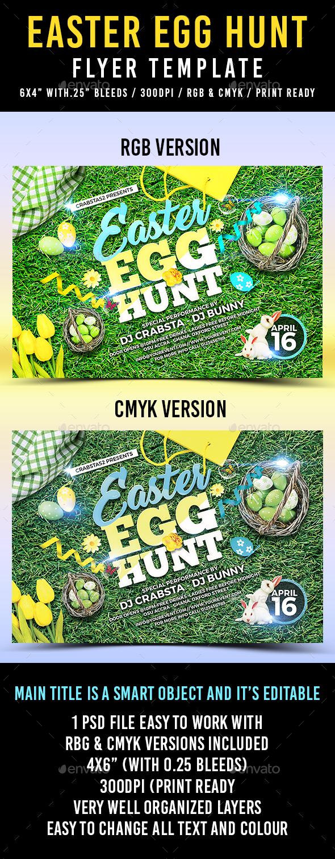 Easter Egg Hunt Flyer Template 2 - Holidays Events