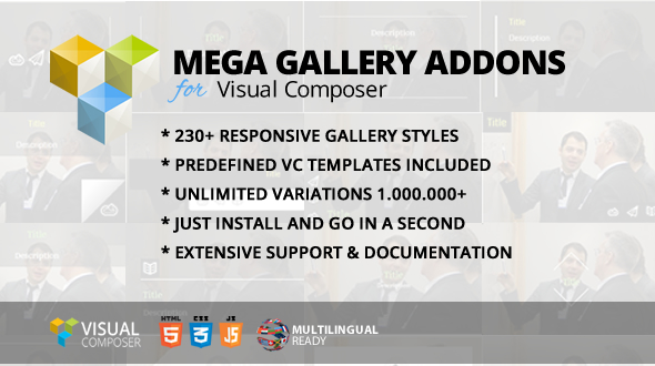 Mega Gallery Addon for WPBakery Page Builder (formerly Visual Composer) - CodeCanyon Item for Sale