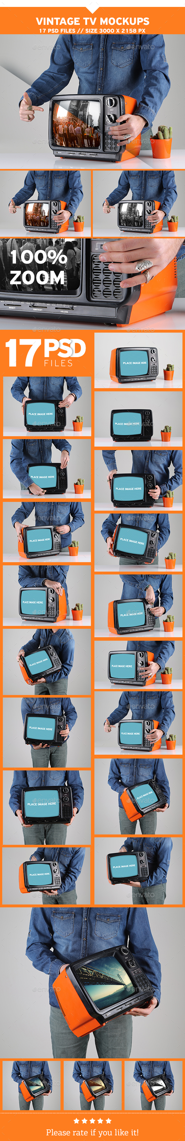 Vintage TV Mockups - TV Displays