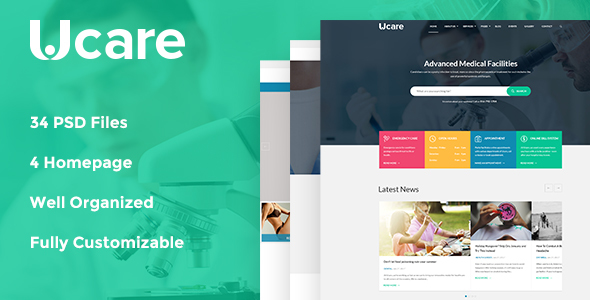 Ucare – Medical & Health PSD Template