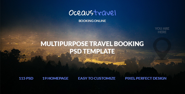 OCEAUS – Multipurpose Travel Booking PSD Template