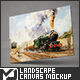 Landscape Canvas Mock-Up - GraphicRiver Item for Sale