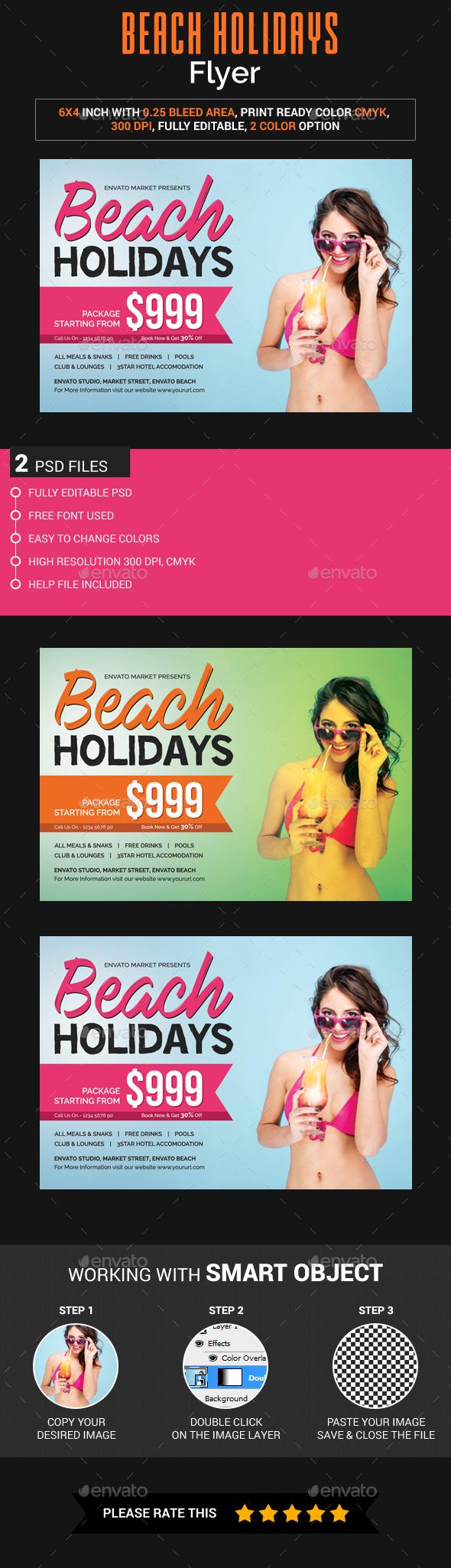 Beach Holidays Flyer - Holidays Events