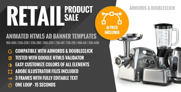 Retail | Product Sale - HTML5 Google Ad Banner Templates - CodeCanyon Item for Sale