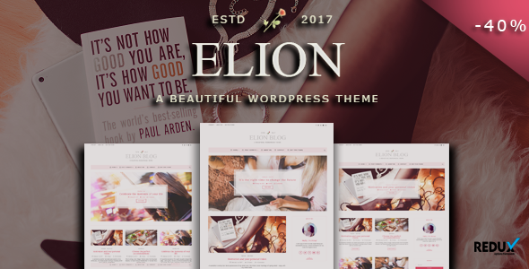 Elion - Personal WordPress Blog Theme - Personal Blog / Magazine